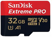 Карта памяти SanDisk Extreme Pro microSDHC Class 10 UHS Class 3 V30 A1 100MB/s 32GB + SD adapter