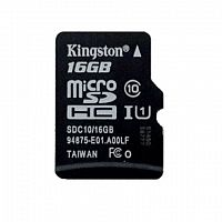Карта памяти Kingston microSD Class10 16 GB