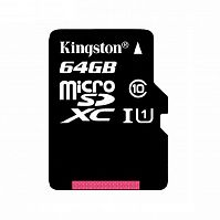 Карта памяти Kingston microSD Class10 64GB