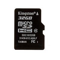 Карта памяти Kingston microSD Class10 32 GB